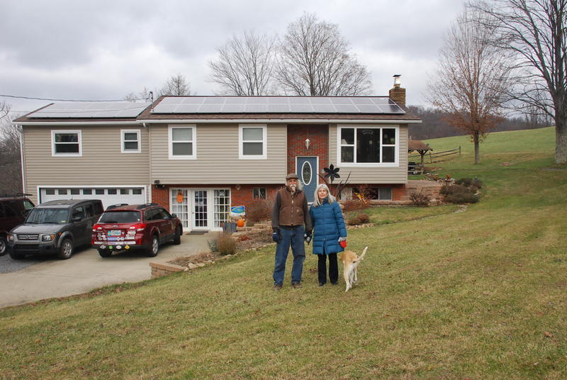 Solar Panels, Cheryl and Corky Brown