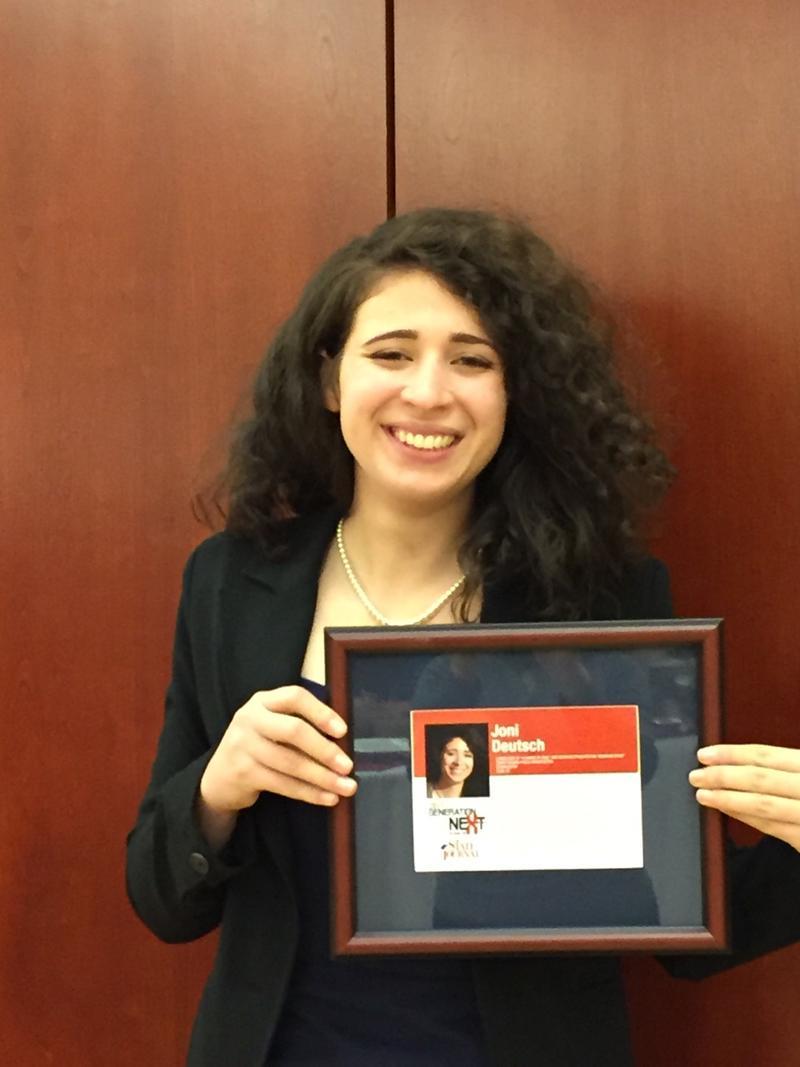 Joni Deutsch receives the Generation Next: 40 Under 40 award.