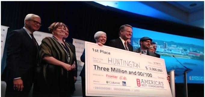Huntington wins America's Best Communities comp