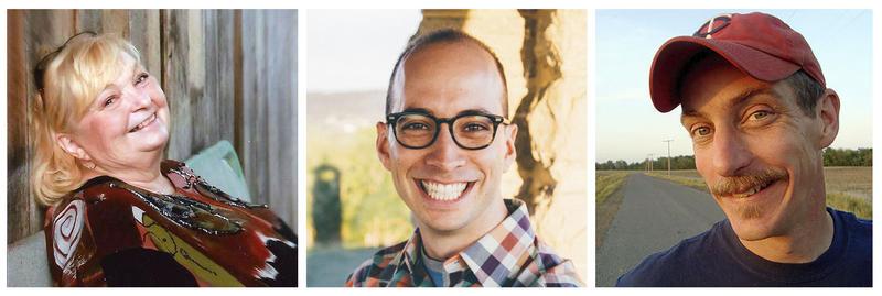 Storytellers Suzi Whaples, Adam Booth and Bil Lepp