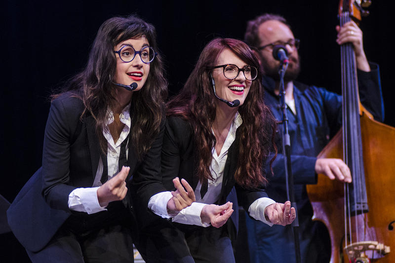 Nancy And Beth (actresses Megan Mullally and Stephanie Hunt) on NPR's Mountain Stage