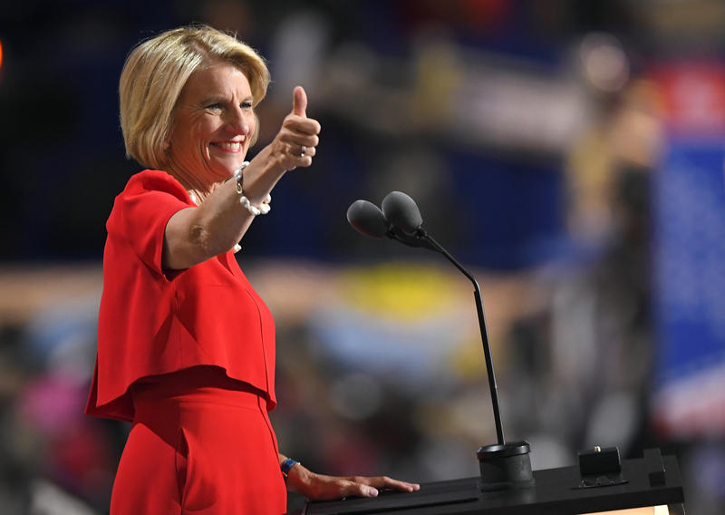 Sen. Shelley Moore Capito at the Republican National Convention in 2016.