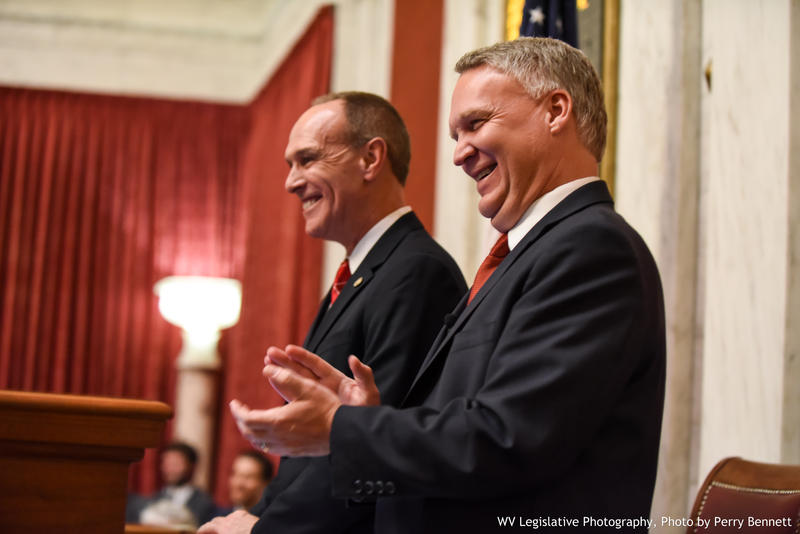 Senate President Mitch Carmichale, left, and House Speaker Tim Armstead, right.
