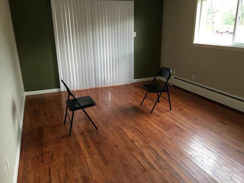 Newly rented living room upon entering Denver, Colorado.