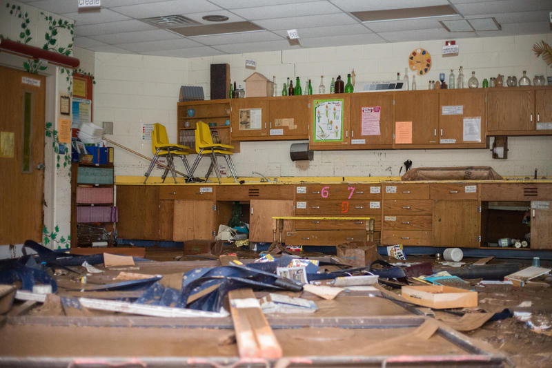 Richwood Middle School after last year's flood