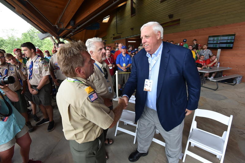 Gov Jim Justice visited the The 2017 National Scout Jamboree earlier on Friday, July 21, 2017.