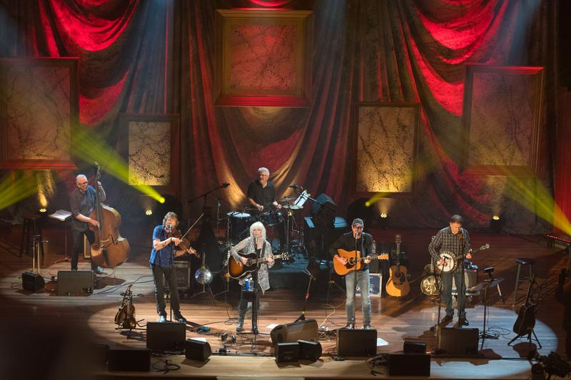Harris and the Nash Ramblers celebrate the 125th anniversary of the Ryman Auditorium with a sold-out show.