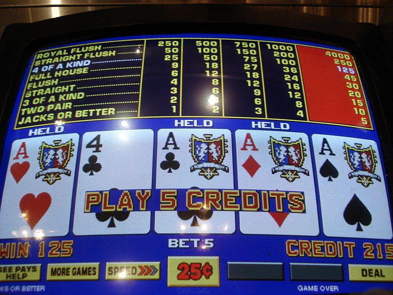 Video lottery, slot machine