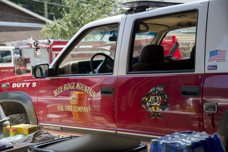Blue Ridge Mountain Fire Company was one of the many departments that responded to Hundred's call for help after flash floods hit the Wetzel County town July 29, 2017.
