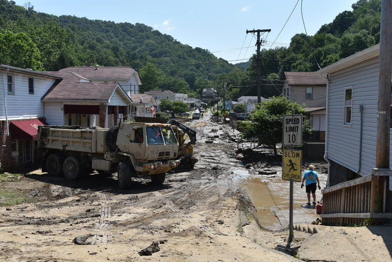 Flood damage in north central West Virginia.