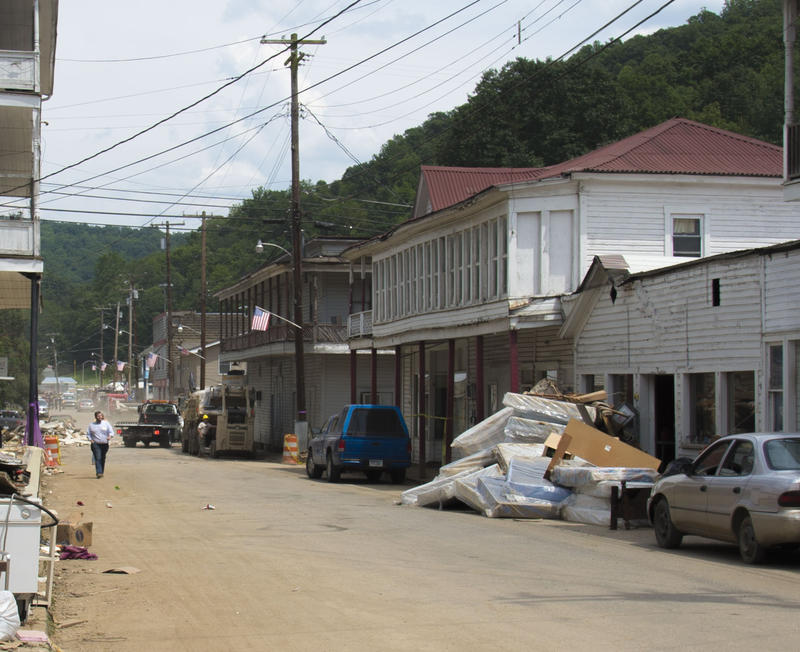 The Streets of Hundred, WV after July 2017 flooding.