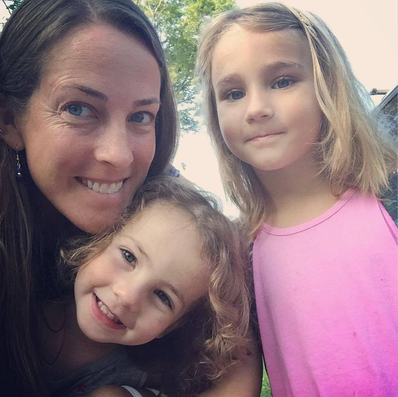 Katie Fallon and her two children, Cora and Laurel. Katie was inspired by her kids to write this children's book.