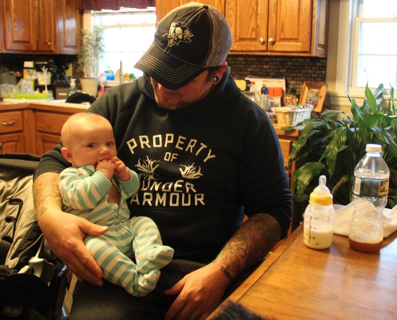 Dave Hathaway with his son Deacon