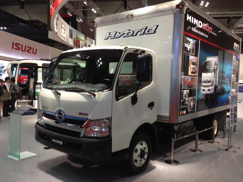 A Hino 300 Series Hybrid truck. Tokyo Motor Show, 2013.