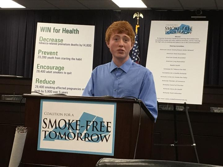 High school anti-smoking advocate Jacob Steward.