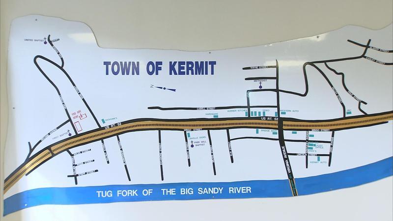 Kermit, WV map