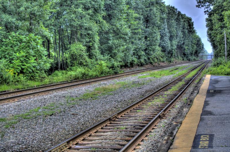 Train tracks, train