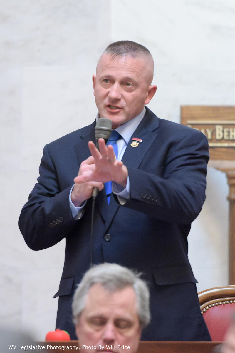 Sen. Richard Ojeda, D-Logan, speaking on the Senate floor on March 10, 2018.