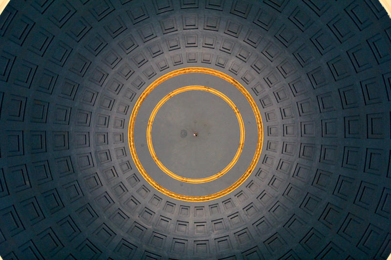 The dome is empty until the chandelier's return in two years.