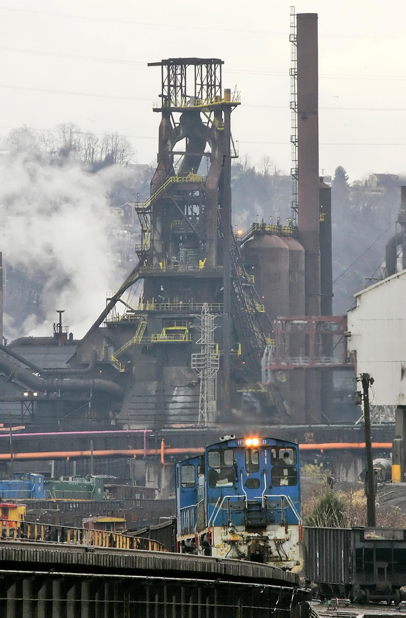 This is a blast furnance at United States Steel Corp's. Edgar Thomson Works in Braddock, Pa., Monday, Nov. 17, 2008.