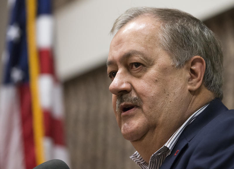 Former Massey CEO and West Virginia Republican Senatorial candidate, Don Blankenship, speaks during a town hall to kick off his campaign in Logan, W.Va., Thursday, Jan. 18, 2018. Blankenship will face two other GOP candidates in the May 8th primary.
