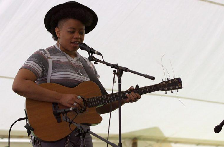 Amythyst Kiah performs at Seedtime on the Cumberland, a traditional mountain arts festival presented by Appalshop, Inc.
