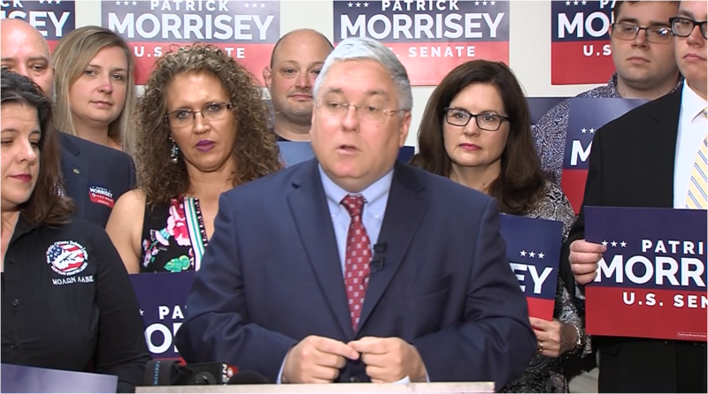 "On Sunday, May 6, 2018, state Attorney General and GOP primary hopeful Patrick Morrisey called out fellow U.S. Senate candidate Don Blankenship for ""ongoing"" legal issues."