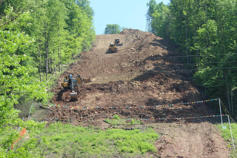 The beginning of the Mountain Valley Pipeline under construction in Wetzel County, WV.