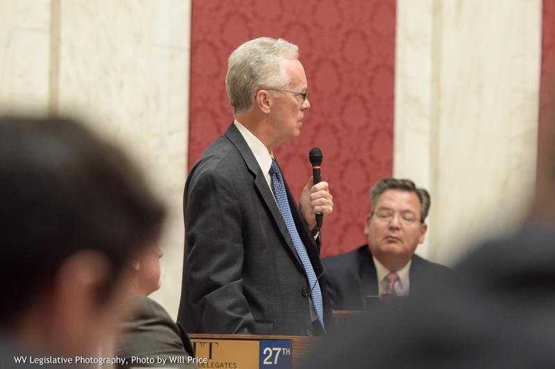 House Judiciary Chair John Shott speaks on the House floor on Tuesday, June 26, 2018.