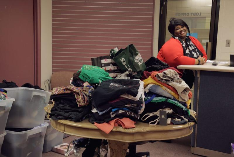 Shaunte Polk, director of the LGBTQ  Office at Marshall University, says she was shocked at the outpouring of donations for Trans Closet.