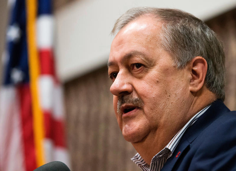 In this Jan. 18, 2018, file photo, former Massey CEO Don Blankenship speaks during a town hall in Logan, W.Va. Blankenship lost the GOP primary but is threatening to challenge state election law to get on the ballot as a Constitution Party candidate.