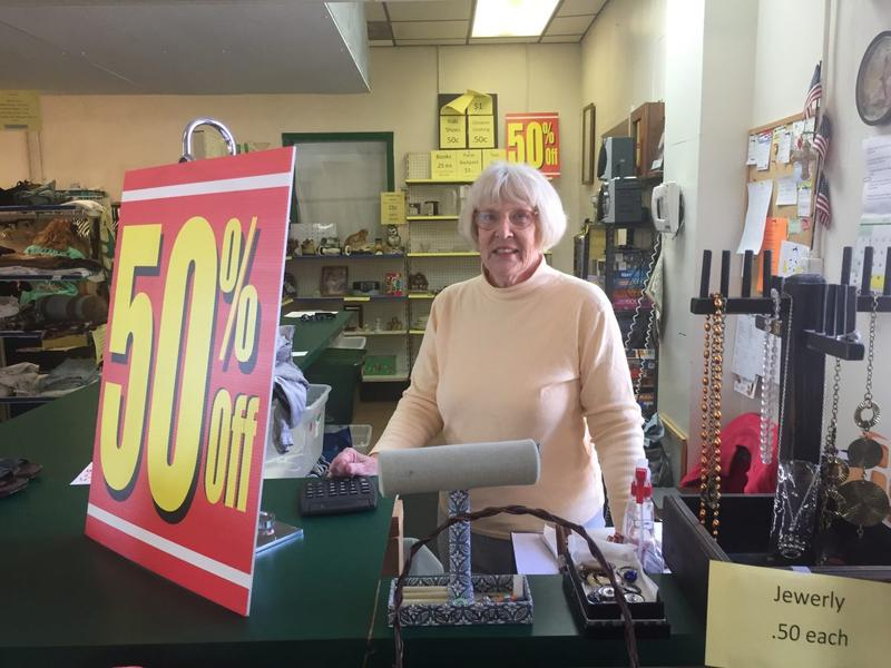 """""""They take care of each other,"""" Elise Sheppard, a Hope Shop volunteer says of her fellow Wirt Countians."""