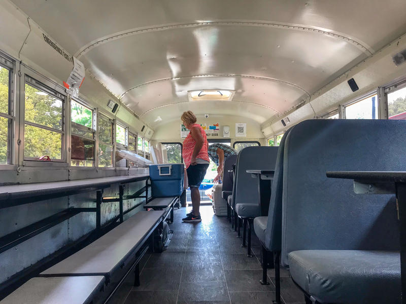 School officials in Lewis County renovated this old school bus three years ago and transformed it in the traveling Food Bus.