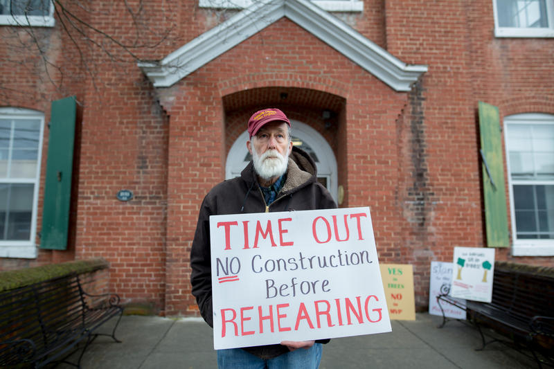 Wood Bouldin, 72, at Monroe County Circuit Court in March, 2018. He says any pipeline construction and taking of land under eminent domain should wait until courts review cases. Currently some cases are not heard till projects are complete.