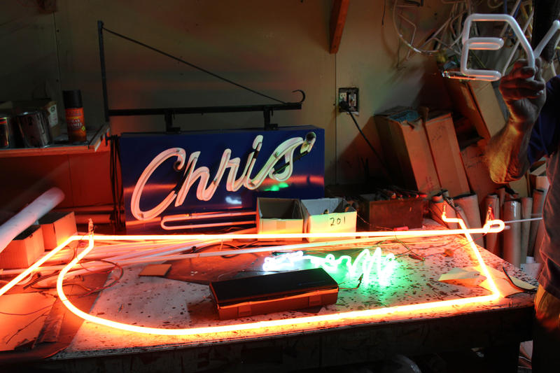 Inside the neon sign workshop of James Day