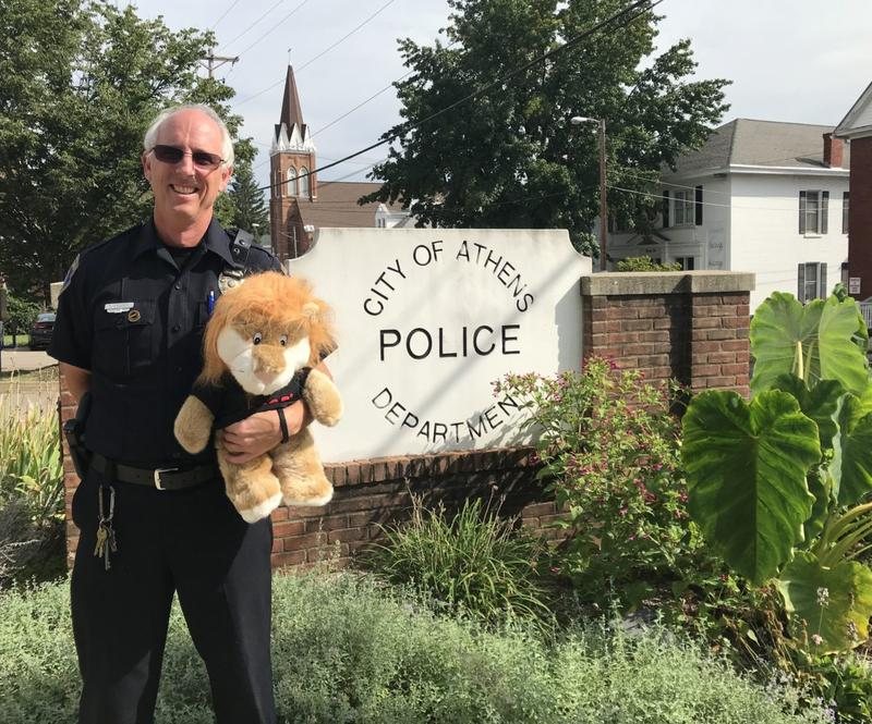 D.A.R.E. officer Rick Crossen in Athens, Ohio.