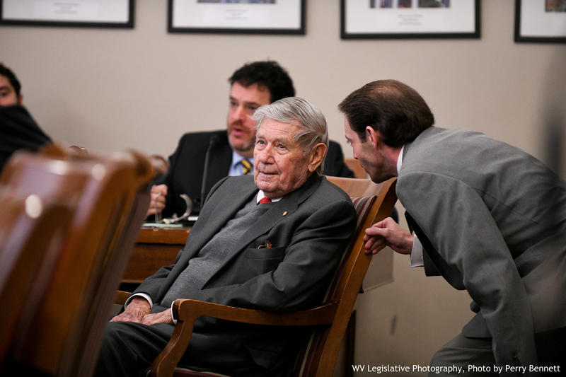 Del. Frank Deem, seated, sits in a meeting of the House Judiciary Committee on Jan. 17, 2018. Deem passed away Wednesday, Oct. 10, 2018 at the age of 90.