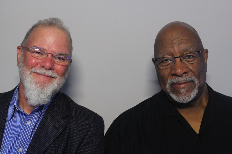 Larry Groce with his friend and colleague Bob Thompson.