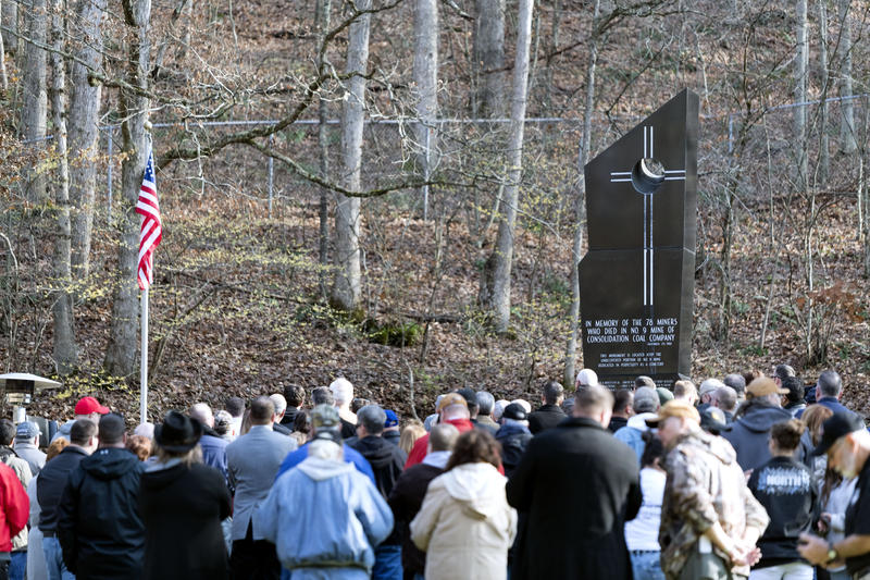 Hundreds gathered in Mannington for an event to honor the memory of miners who died in an explosion 50 years ago this week. A monument there bears the names of the men who died.