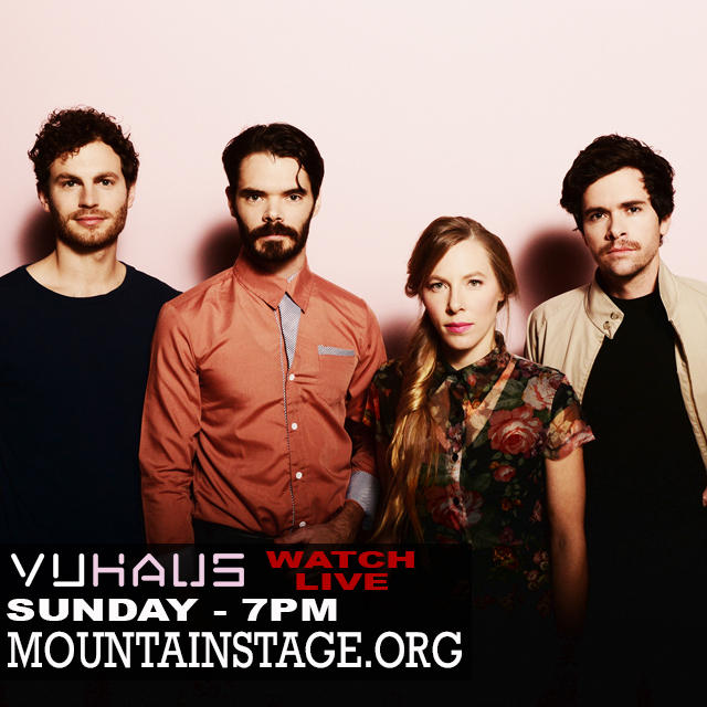 Thanks to VuHaus and WVPB you can watch this Sunday's Mountain Stage live starting at 7pm.