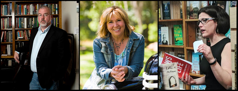 Journalist Ken Ward, author Karen Spears Zacharias and author Laura Lee Morris.