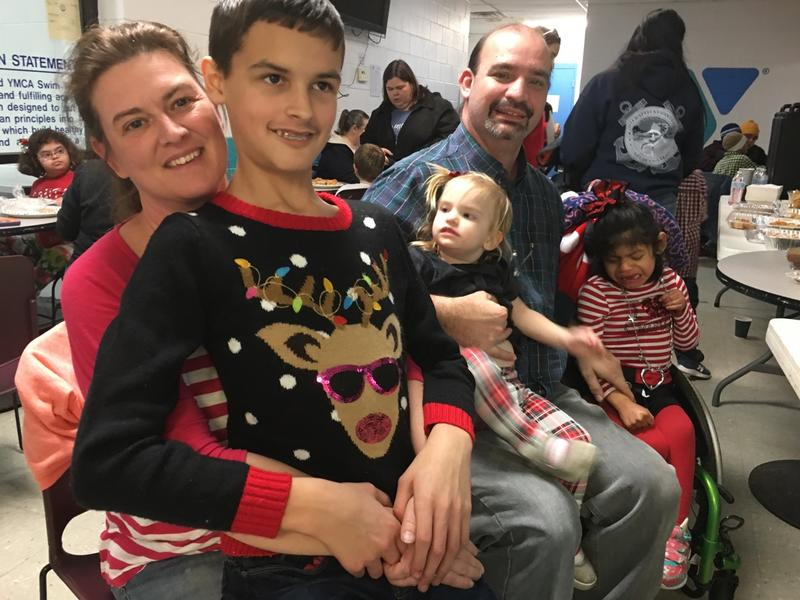 The Merritt family participated in the Sensitive Santa event in Richmond.