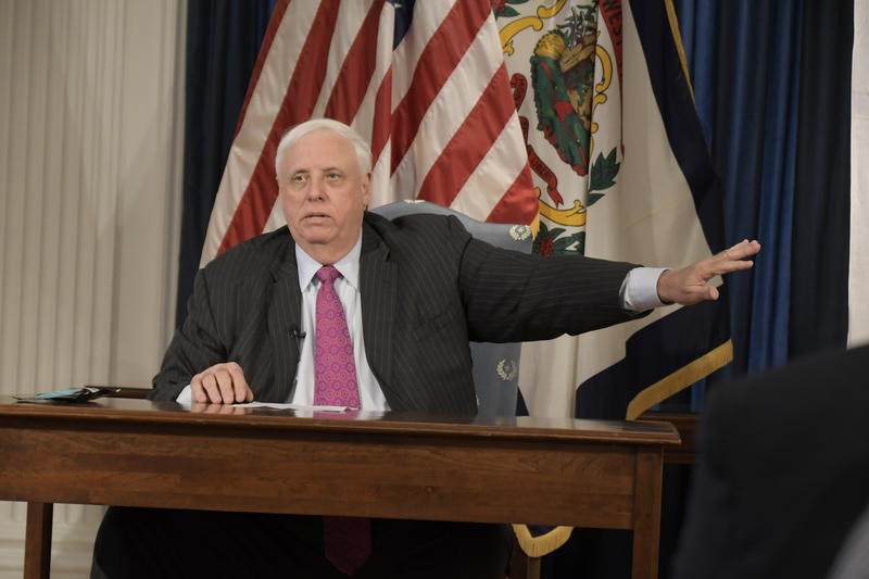 In this file photo, Gov. Justice speaks at a news conference at the Governor's Reception Room at the West Virginia Capitol in Charleston.