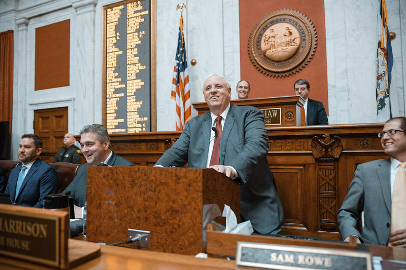 Gov. Jim Justice, R-W.Va., delivers his annual State of the State speech, Wednesday, Jan. 9, 2019, in Charleston, W.Va.