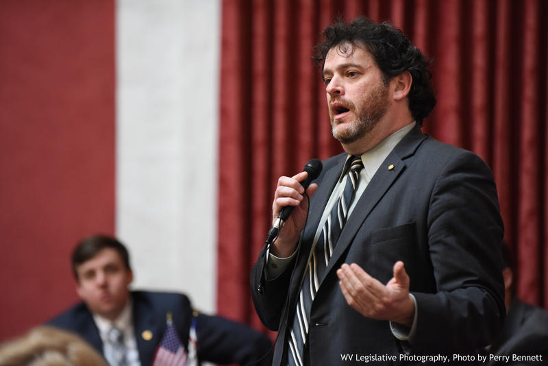 In this Feb. 27, 2017 file photo, Del. Mike Pushkin speaks on the House floor. Pushkin and other House Dems are calling for leadership to consider recreational marijuana as a new revenue stream for the state.