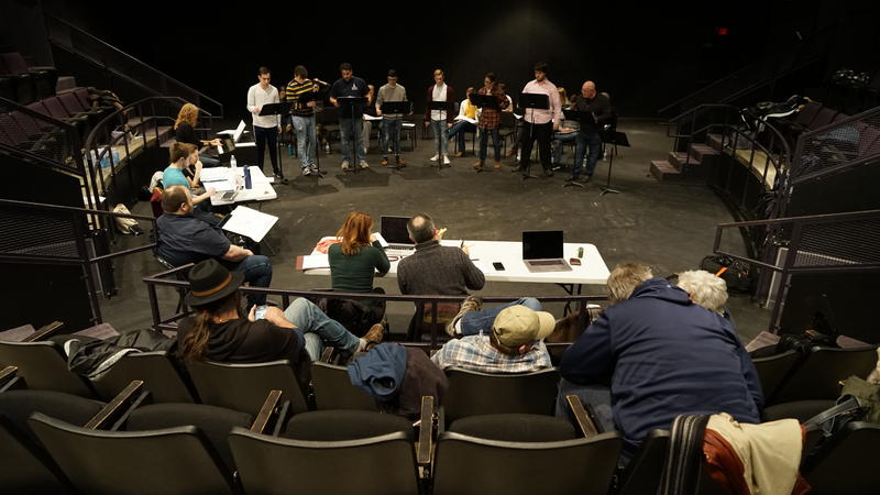 writers and musicians work with actors at the Creative Arts Center at West Virginia University in Morgantown, W.Va., staging the musical-in-development.
