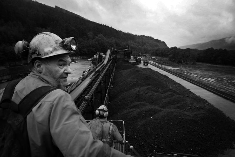 A miner begins his shift at the Unity mine, near the south Wales village of Cwmgrach, Wednesday Aug. 27, 2008.