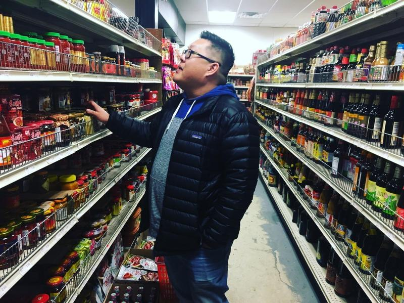 Lo makes an hours-long drive to procure ingredients like specialty sauces, noodles, fermented bean pastes and lotus leaves, at WHF Oriental Market, located in Pittsburgh's Strip District.