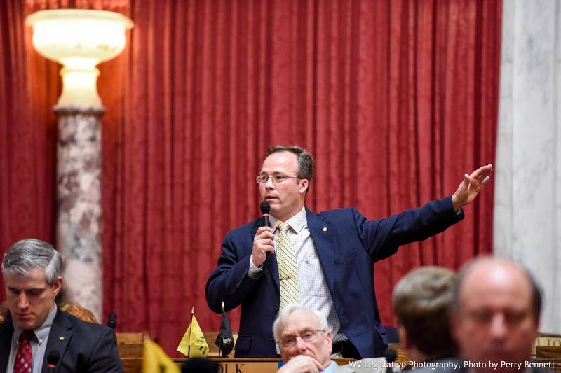 In this Mar. 5, 2016 file photo, then-Del. Michael Folk speaks on the House floor.