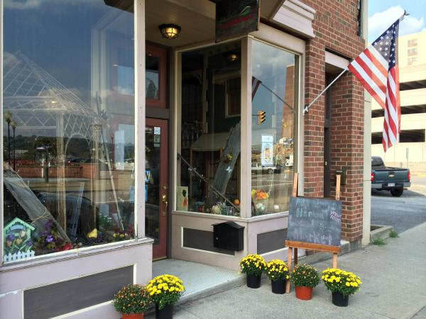 Store front for All Things Herbal Local Market in Fairmont, West Virginia